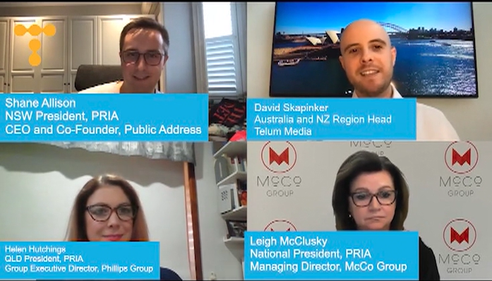 Virtual roundtable with the senior leadership team at PRIA