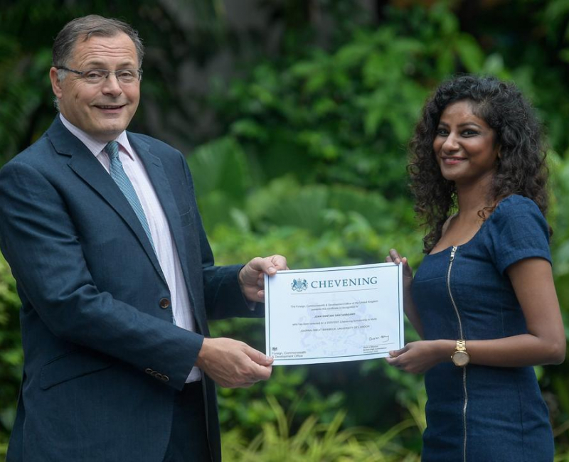 Joan Santani flies to London on Chevening scholarship